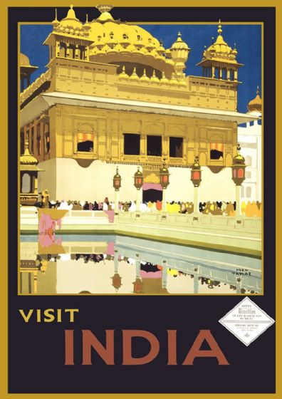 Visit India. Vintage Travel/Tourism Print/Poster. Sizes: A4/A3/A2/A1 (002718)